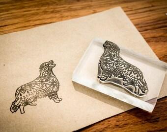 Custom Fine Art Rubber Stamp - 70mm x 125mm