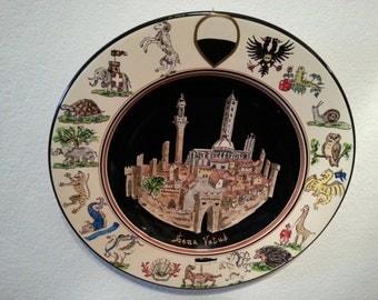Sena Vetus - Ancient Siena Plate - 17 contrade of Siena