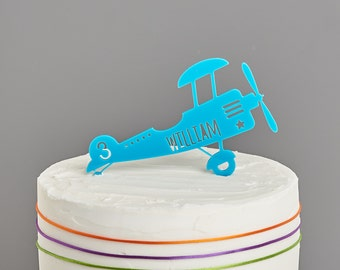 Personalised Airplane Cake Topper