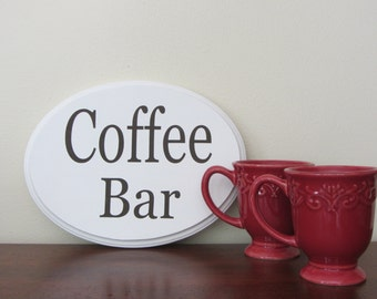 French Country Chic/Rustic Glam Coffee Bar Wood Sign