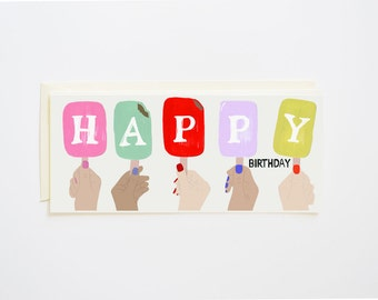 Popsicle Happy Birthday Card