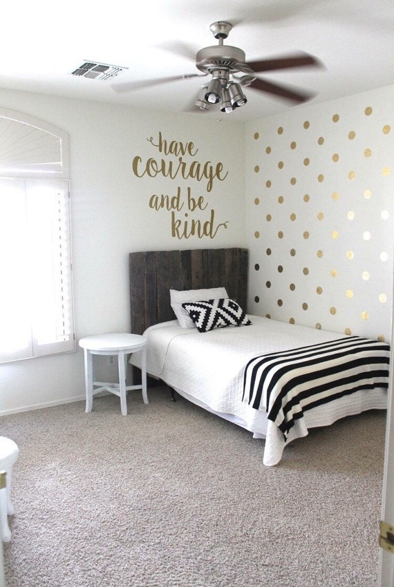 gold polka dot decals gold circle decals vinyl gold. Black Bedroom Furniture Sets. Home Design Ideas