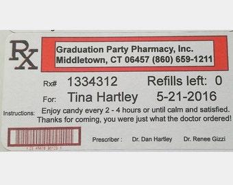 Customizable funny prescription label