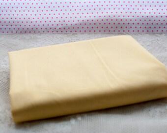 Lemon Plain Cotton Fat Quarter
