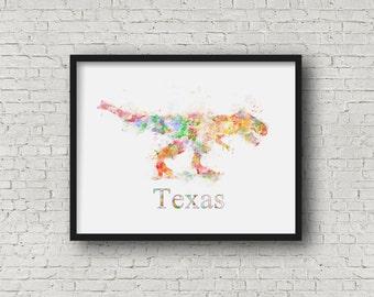 Dinosaur watercolor/ Dinosaur Art/ Contemporary Dinosaur
