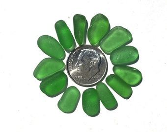 Beach Decor, Green Gemstones From The Sea, Real Genuine Sea Beach Glass, Drilled or Pure, Jewelry Supplies, Beach Crafts