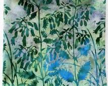 "12.5"" Botanical Hankies, Tropical Leaf Hanky, Handmade Cotton Handkerchief, Wedding Hankies, Summer Hankies, Teacher Gifts"
