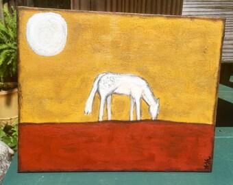 Appaloosa on 8x11 flat canvas by Ash