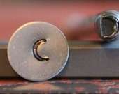 Quarter Moon Metal Stamp Perfect for Metal Stamping and Metal Jewelry Design Work  SGC-12