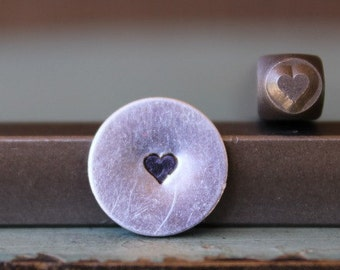 Brand New 3mm Solid Heart Metal Design Stamp - Metal Stamp - Metal Stamping and Jewelry Tool - SGCH-98