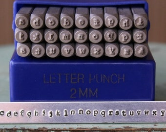 2mm Typewriter Font Lowercase Alphabet Letter Stamp Set - Metal Stamp Set - Metal And Jewelry Design Stamping - SGE-7L