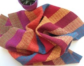 Hand woven Red-Multi Kitchen Towel, Southwest Colors Tea Towel, Hand loomed Guest Bath Towel