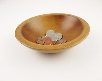 "Nice Change or Keys Bowl - Hand-turned Wood Bowl - Wonderful Wood Patina - Small 6"" Wood Bowl"