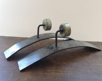Vintage wall sconces Set of 2 Metal Wall Candle Holders Iron hanging tea light holders