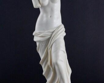 """Vintage Aphrodite Statue Woman Venus de Milo Santini 11"""""""