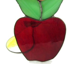 Vintage Stained Glass Apple Sun Catcher