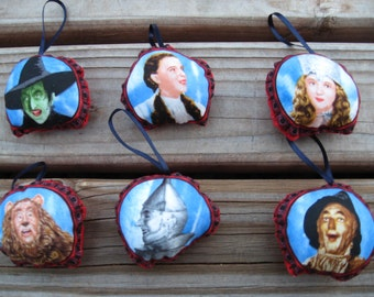 Wizard of Oz Pillow Ornaments  - Set of 6
