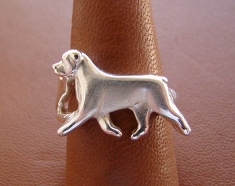 Sterling Silver Rottweiler Moving Study Ring