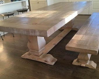 Harvest Table   Dining Table   Farmhouse Table- shipping included