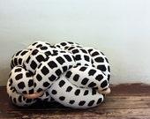 NEW! Medium Cream & Dark Gray Ink Spots Floor Cushion, Knot Floor Pillow, Modern Home Decor cushion, pouf ottoman, Meditation Pillow,
