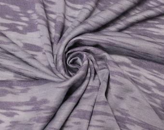 Lilac Burnout Jersey Knit Fabric by the yard - 1 Yard Style 6848