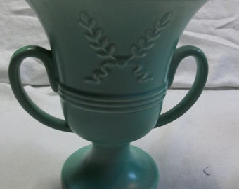 "Vintage Red Wing Pottery 748, Soft Green Pottery Vase/Planter,Circa 1960's,7.5"" Tall,  1216T"