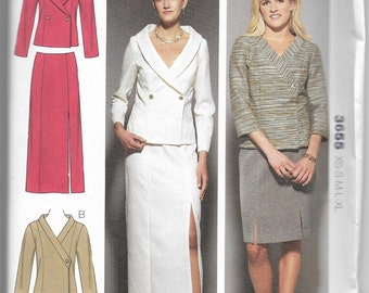 3655 Kwik Sew Jackets and Skirts Sewing Pattern Sizes XS-S-M-L-XL