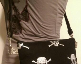Glitter Skulls Crossbody Bag