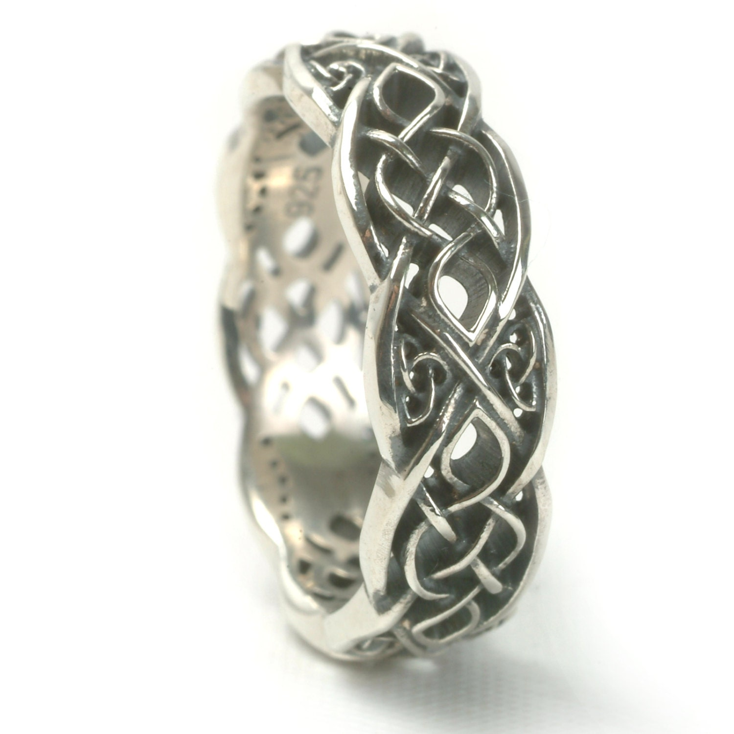 Infinity Wedding Band 925 Sterling Silver Celtic Knot Ring