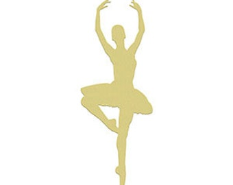 BALLERINA 4 Unfinished Wooden Craft Shape, Do-It-Yourself