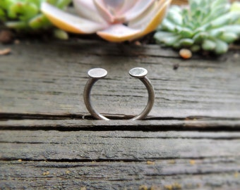Minimalist silver ring, Select ring size, Stacking ring, Stackable Rings, wideband ring, personalized jewelry, MARIAELA