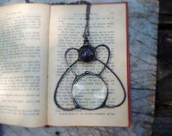 New design! Mystical Loupe necklace, Loupe Magnifying Glass, NOSTALGIC LOUPE, useful gift, pedant necklace, retro, goth, amethyst, magical