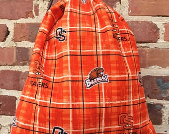 Cinch sack - cinch bag - backpack - Oregon State - drawstring gym bag - beach bag - travel bag - school bag - Oregon State Beavers