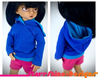 BJD yoSD 1/6 Doll Clothing - Design Your Own Pullover Hoodie - 20 Colors