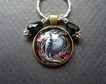 Black Crow keychain ~ Gothic crow keychain ~ Crow accessories