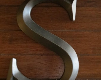 ON SALE TODAY Letter S/ Pick Your Own Letter/ Wall Letter/ /Distressed Oil Rubbed Bronze/ Wall Decor/Mantle Decor