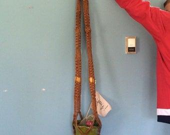"Retro HUGE Macrame Hanging Plant Holder, 70"""