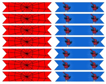 Spiderman Drinking Straw Flags