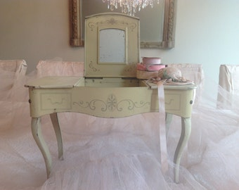 SOLD***SOLD***SOLD***Sweet French antique child's toy boudoir vanity