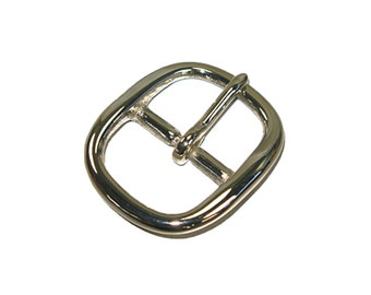 Center Bar Buckle Solid Brass/Nickel Plated