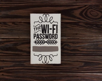Wifi password Wooden Sign (chalk paint surface for your pw)