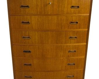Teak Dresser Chest Mid Century Danish Modern