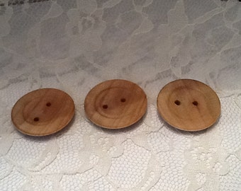 Buttons, wood buttons