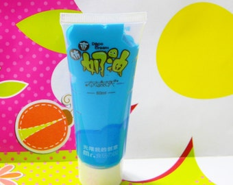 Sale BLUE FAKE Whipped Cream 50ml Tube Kawaii Decoden Fake Icing for Decorating Phone Cases DIY PLus Free Tip