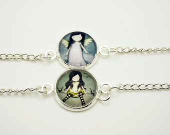 Little girl cabochon bracelet