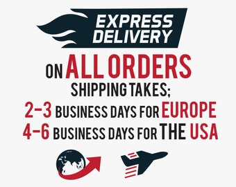 EXPRESS SHIPPING on All Orders!