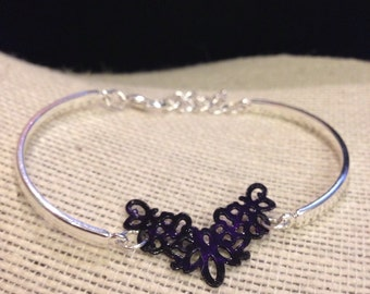 Silver&Violet Filegry Bracelet