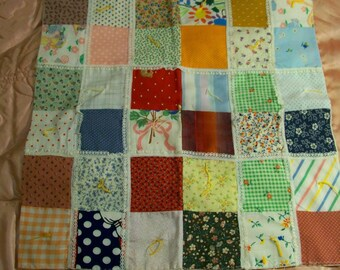 Vintage Hand Tied Doll Quilt - Vintage Lucy Littles 104