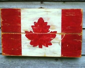 Wood Canadian Flag,Canadian Decor,Canada Flag,Reclaimed Wood Art,Maple Leaf,Canadian Maple Leaf,Canadian Art,Red White Flag,Wood Wall Art