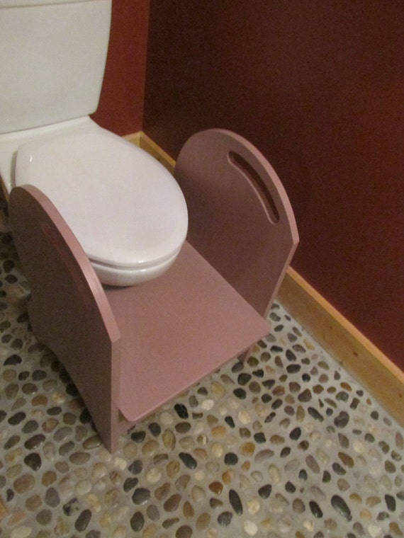 Deluxe Wood Potty Step Stool Vintage Blush